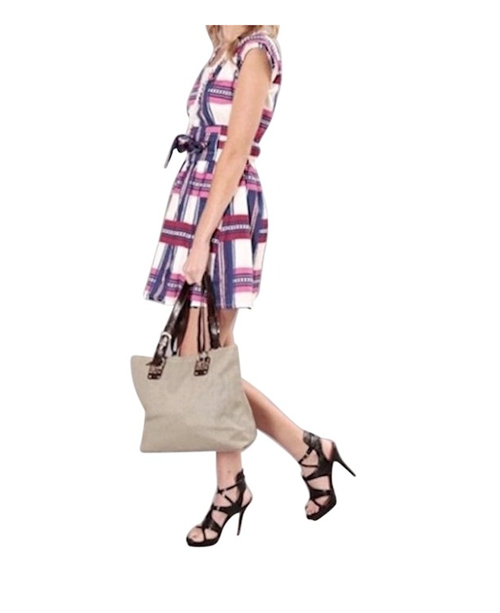 LAST ONE IN STOCK!! Mod PLaid Jackie O Dress (free gift with purchase)