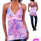 Purple/pink Halter Top (lrg)