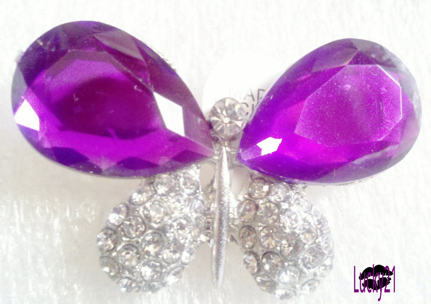 Purple Butterfly Ring