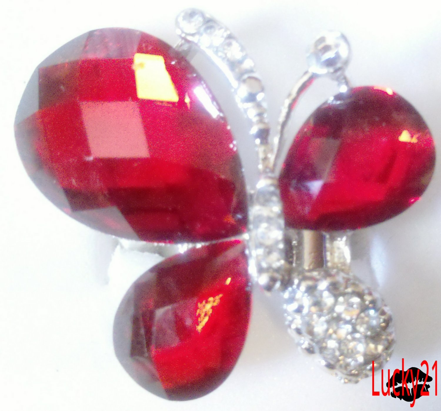 Red Butterfly Ring 02