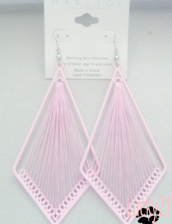 MarYsol Threaded Diamond Earrings (Pink)