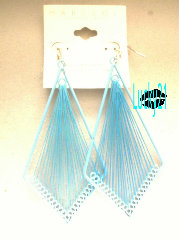 MarYsol Threaded Diamond Earrings (Baby Blue)