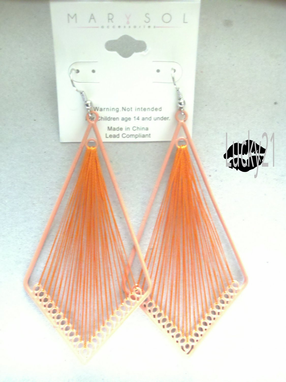 MarYsol Threaded Diamond Earrings (Orange)