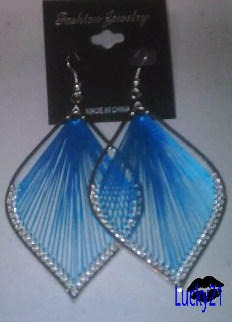 Large Tear Drop Threaded Earring