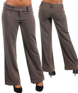 Brown Pinstripe Dress Pants (large)
