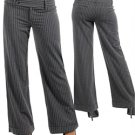 Grey Pinstripe Dress Pants (large)