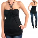 Black Beaded Halter Top (medium)