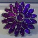 Purple Flower Bangle
