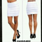 Pleated ponte body con skirt (large)