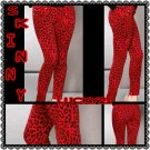 Red leopard print Skinny Jeans