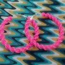 Strawberry Cobra Twist Gimp Hoop Earring (pink)