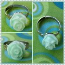 Handmade Mint floral ring