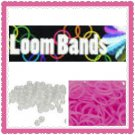 Glow in the Dark Loom Bands Rubber bands (pink)