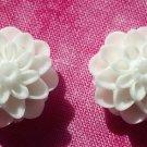Handmade ivory floral post earrings