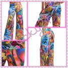 Colorful Fold Waist Palazzo Pants (large)
