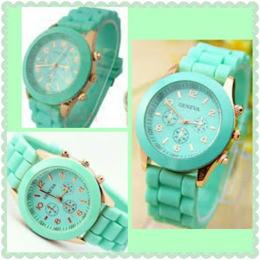 Cute Silicone Band Watch (mint)