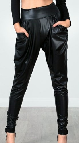 Faux Leather Harem Pants (small)