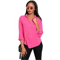 Fuchsia Cut out Back High low Top (large)