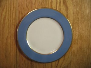 Flintridge China Sylvan Blue Gold Dinner Plate