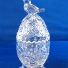 Hofbauer Crystal Byrdes Bird Footed Egg Trinket Box
