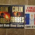 Colin Forbes Lot of 3 paperback Thriller novels pb books