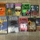 Elmore Leonard Lot of 19 pb hc Mystery novels books