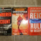 Christopher Reich Lot of 3 pb thriller novels books