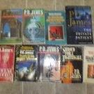 PD James Lot of 13 pb Mystery novels books British Adam Dagliesh