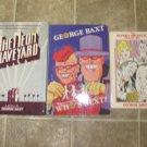George Baxt Lot of 3 pb HC mystery novels books comic