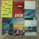 Scandanavian Lot of 6 trade pb Mystery novels Nesbo Mankell Larsson Fossum Nesser