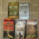 James Rollins Lot of 5 pb adventure thriller novels books