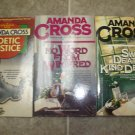 Amanda Cross lot of 4 pb mystery novels books cozy Kate Fansler