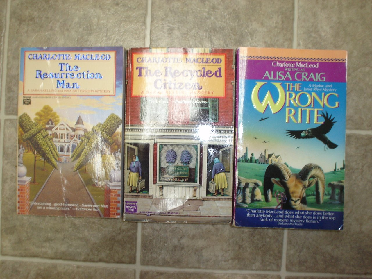 Charlotte MacLeod lot of 3 pb mystery novels books cozy