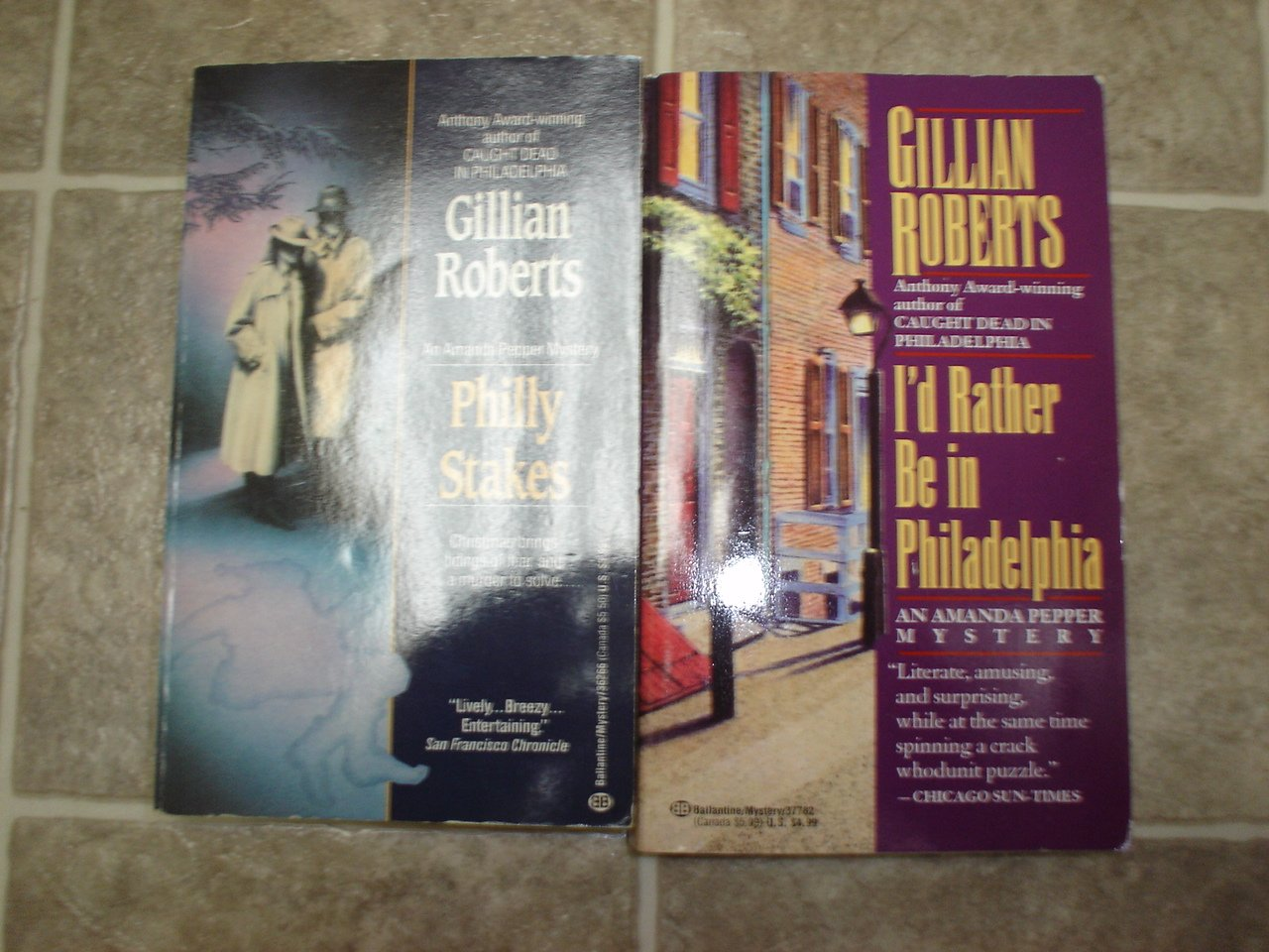 Gillian Roberts Lot of 2 pb mystery books cozy Amanda Pepper Philadelphia