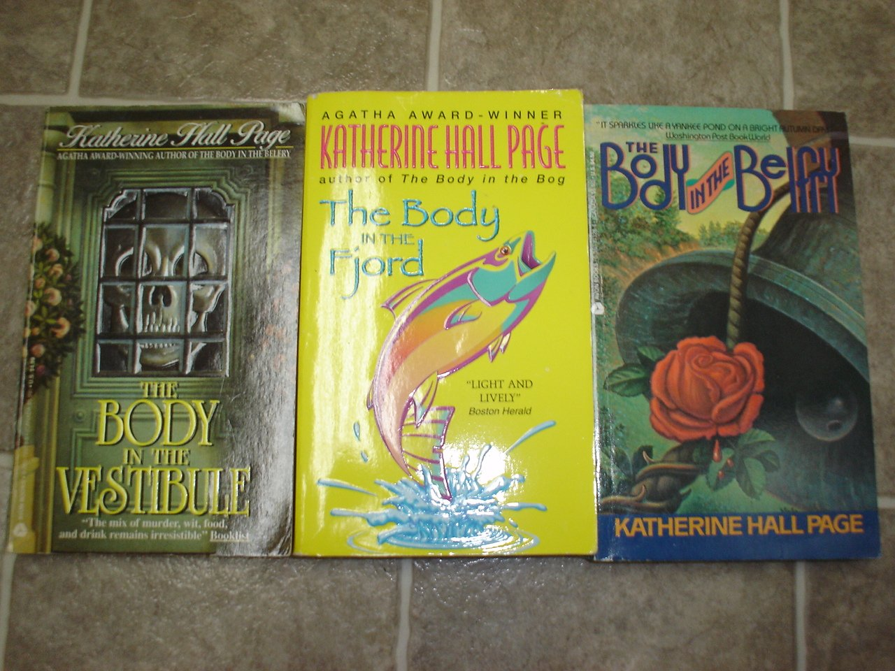 """Katherine Hall Page lot of 9 pb mystery novels books cozy Faith Fairchild """"Body in the..."""" series"""