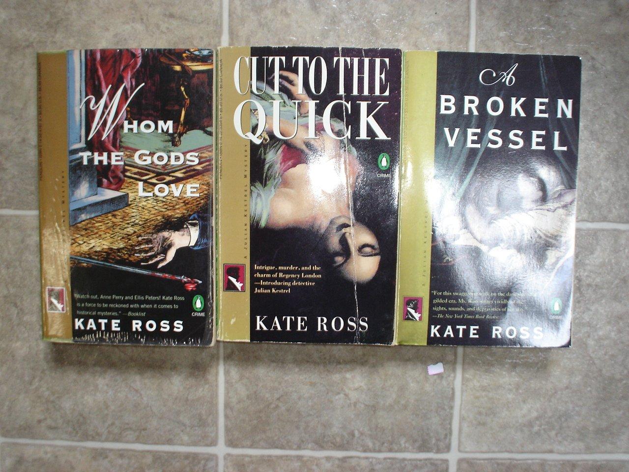 Kate Ross lot of 3 pb mystery novels books British Historical Julian Kestrel