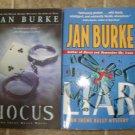 Jan Burke lot of 2 pb mystery books Irene Kelly