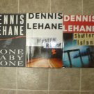 Dennis Lehane lot of 3 HC Mystery novels books w/ 2 First Editions