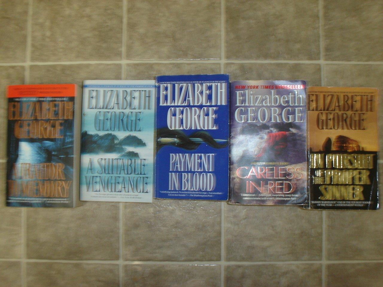 Elizabeth George lot of 5 pb mystery books novels British