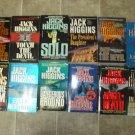 Jack Higgins lot of 12 pb thriller suspense novels books