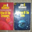 John D MacDonald lot of 2 pb vintage science fiction books mystery