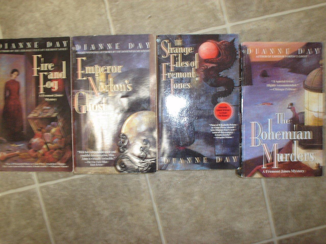 Dianne Day lot of 5 pb mystery novels books historical Fremont Jones