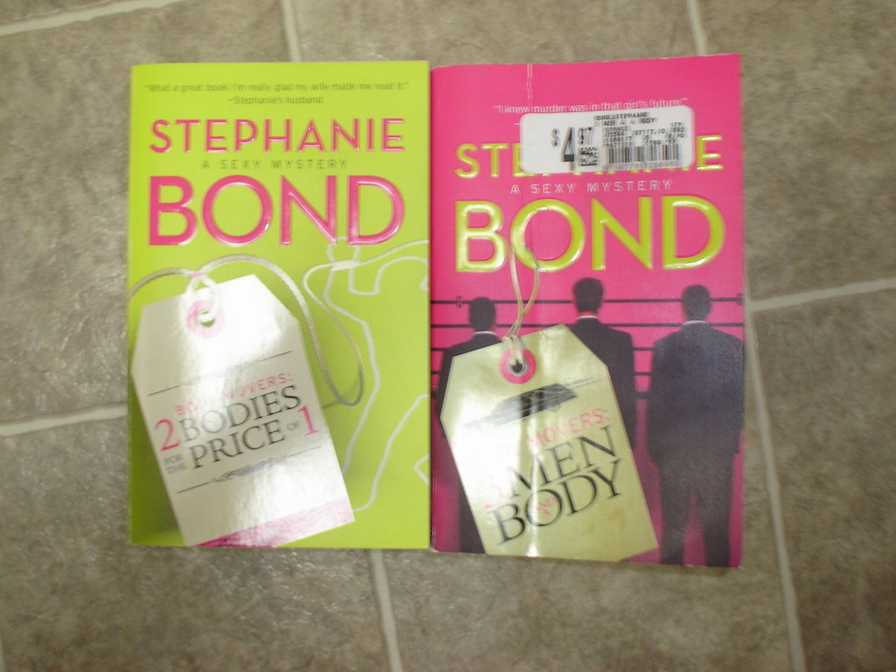 Stephanie Bond lot of 2 pb comic mystery books Sexy Body Movers