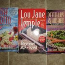 Lou Jane Temple lot of 3 pb mystery books cozy Heaven Lee Culinary
