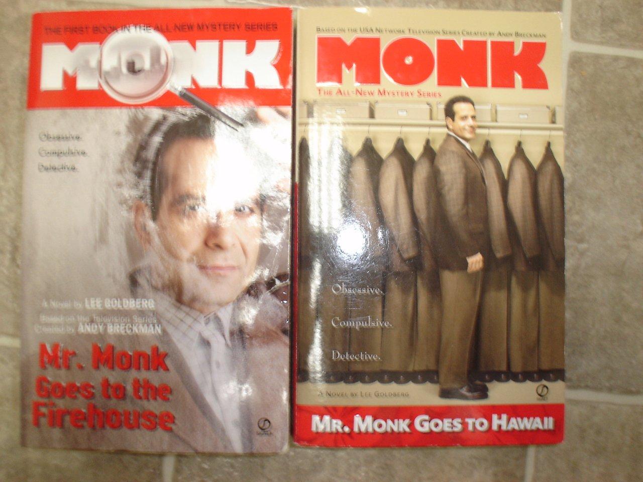Lee Goldberg lot of 2 pb Monk mystery books