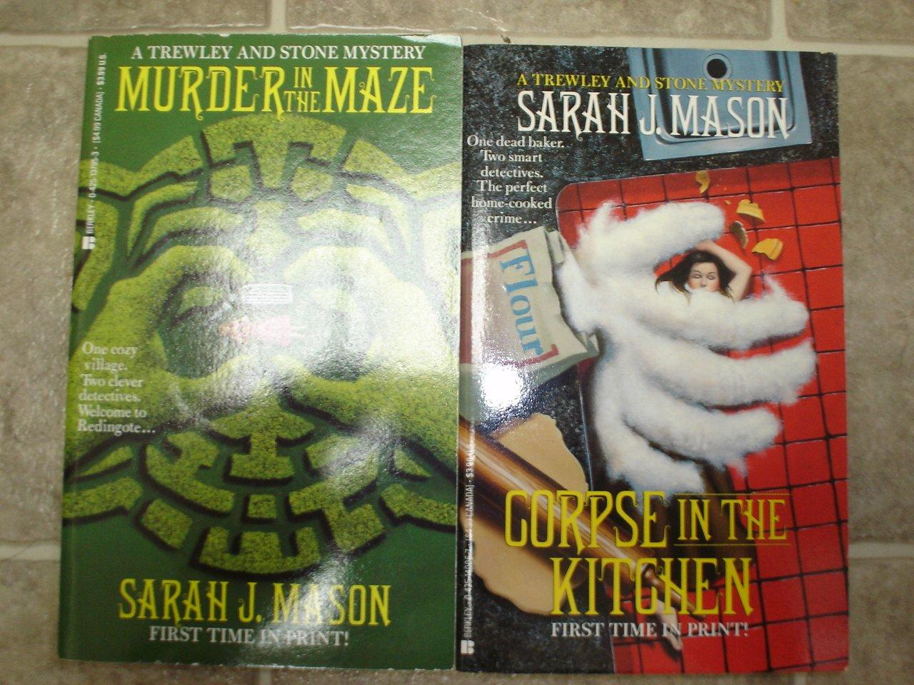 Sarah J Mason lot of 2 pb cozy British mystery books Trewley and Stone