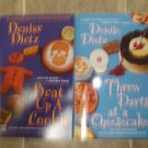 "Denise Dietz lot of 2 pb mystery books cozy culinary ""Weight Winners"""