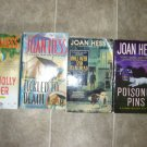 Joan Hess lot of 4 pb mystery books cozy Claire Malloy