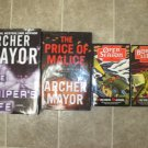 Archer Mayor lot of 4 pb hc mystery books hard boiled Joe Gunther