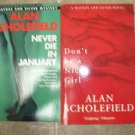 Alan Scholefield lot of 2 pb British mystery books Macrae and Silver